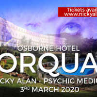 Evening of Mediumship-3rd March 2020 at the Osborne Hotel Torquay